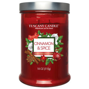 Tuscany Double Wick Candle Cinnamon & Spice