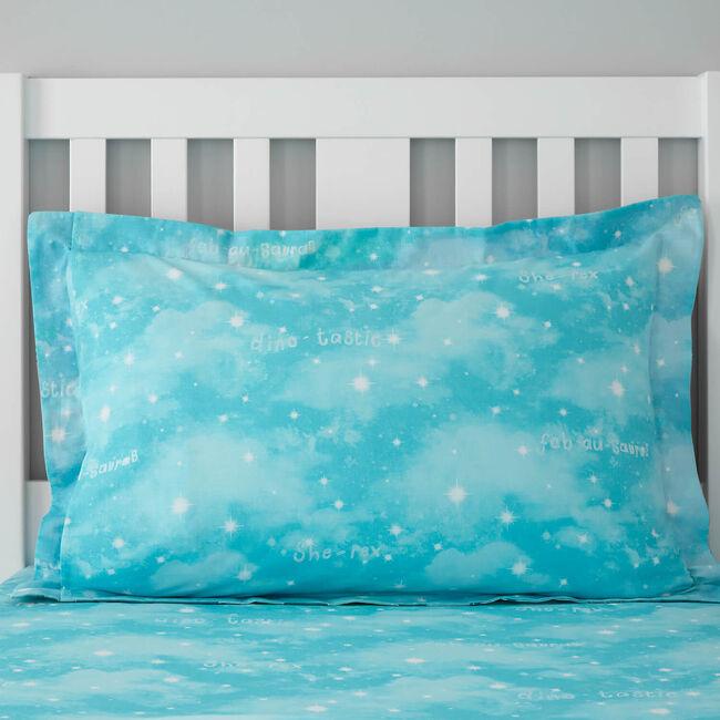 Fabausauras Oxford Pillowcase Pair - Blue