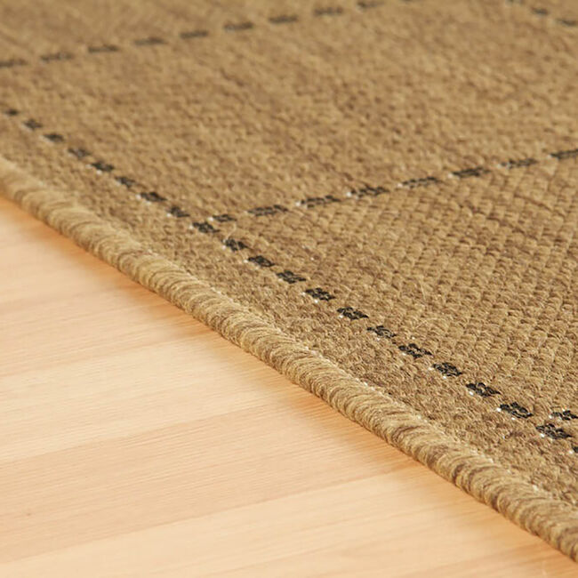 Chequered Flatweave Rug 120x160cm - Natural