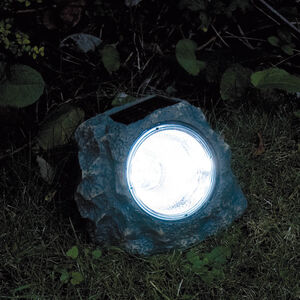 Outdoor Solar Light Garden Rock