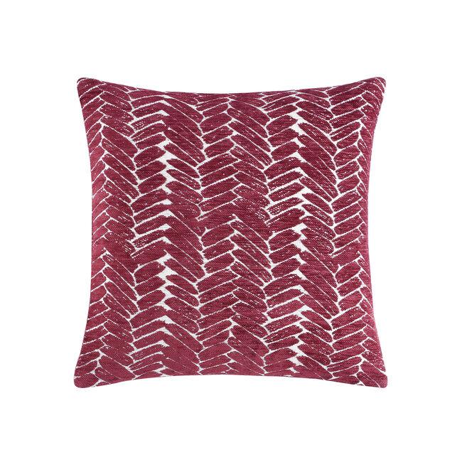 Night Peacock Cushion 45x45cm - Burgundy
