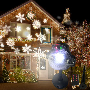 Outdoor Colour Changing Snow Falling Projector