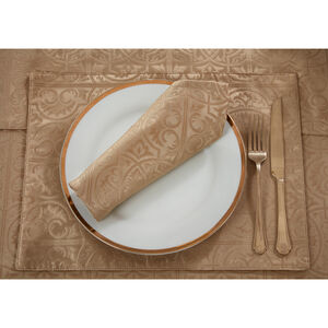 Gatsby Damask Placemat Gold - 2 Pack