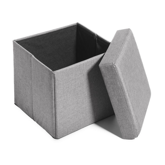 Deluxe Charcoal Folding Ottoman - Grey