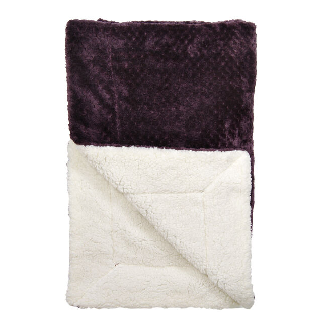 Nicole Day Waffle Sherpa Heather Throw