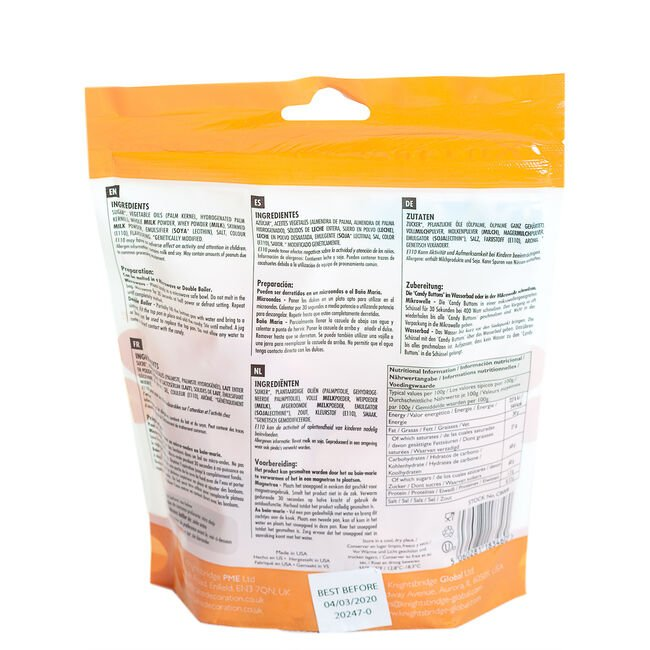 PME Candy Buttons 340g - Orange