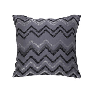Tribal Chevron Cushion 45 x 45cm - Charcoal