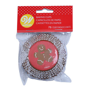 Wilton Gingerbread Boy Cupcake Cases - 75 Pack