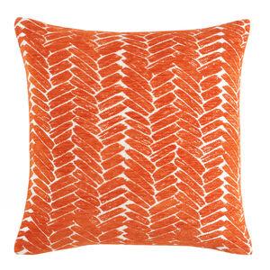 Night Peacock Cushion 45x45cm - Orange
