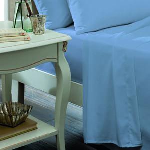 SINGLE FLAT SHEET Luxury Percale Cornflower