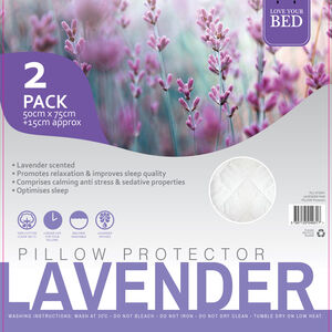 Lavender Pillow Protector Pair