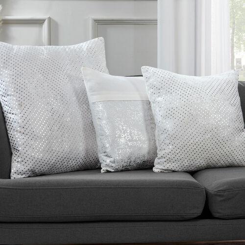 FOIL PRINT COTTON WHITE 45x45 Cushion