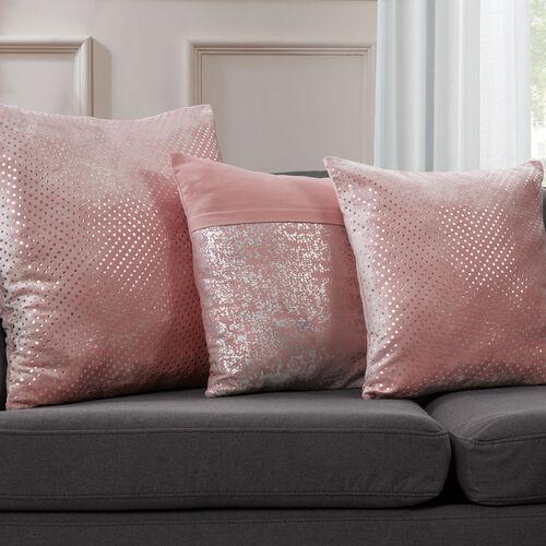 FOIL PRINT COTTON BLUSH 45x45 Cushion