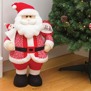Standing Santa with Gift Bag 21""