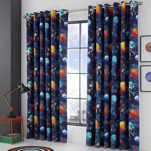 SPACE TRAVEL BLACKOUT CURTAIN 66x54 Multi
