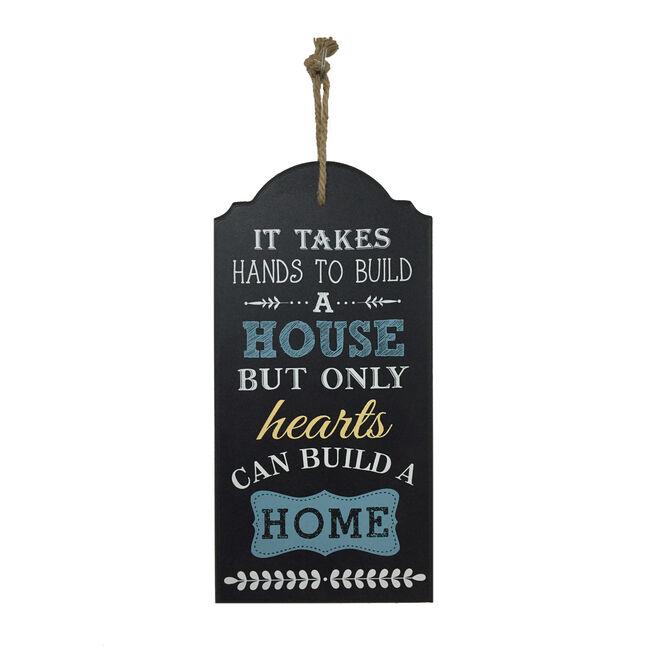 Hearts Build Home 24cm x 48cm