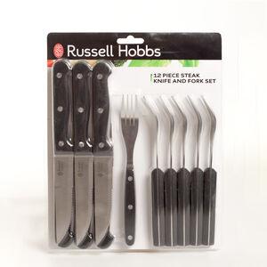 Russell Hobbs 12 Piece Steak Knife And Fork Set