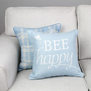 Bee Happy Cushion Cover 2 Pack 45x45cm