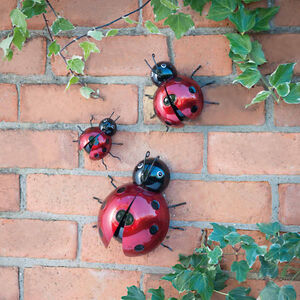 3D Ladybirds Garden Wall Art