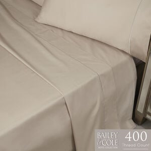 DB FLAT SHEET Single Stitch Mink 400tc
