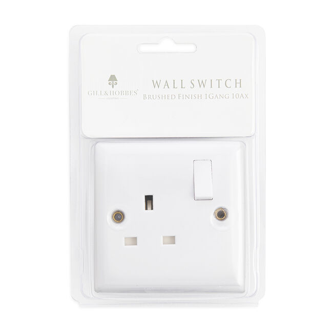 Single Switched Socket Outlet - White