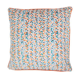 Sophie Spot Cushion 58 x 58cm - Orange