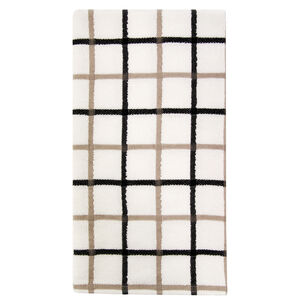 Multi Check Tea Towel Black
