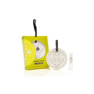 Lemongrass & Ginger Fragrant Ceramic Disc