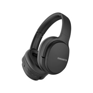 Sonarto Black Bluetooth Foldable Headphones