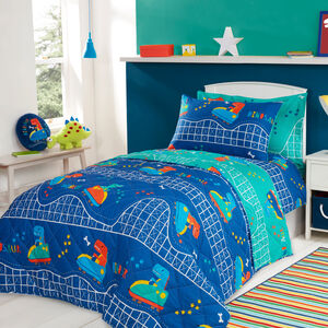 Dino Day Out Bedspread 200x220cm