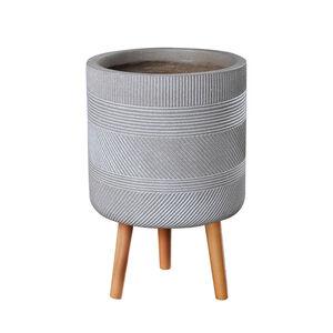 Large Inca Pedestal Fibre Clay Plant Pot