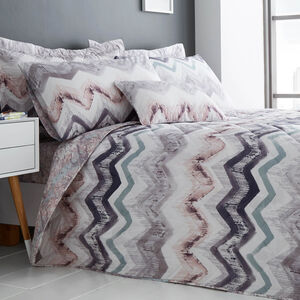 Hannah Grey/Blush Bedspread