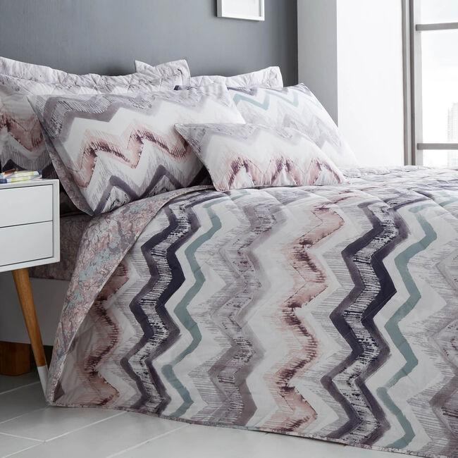 Hannah Grey/Blush Bedspread