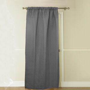 Chevron Grey Thermal Door Curtain 117cm x 213cm