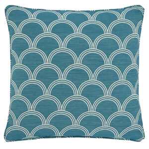 Geo Jacquard Cushion 45x45cm - Teal