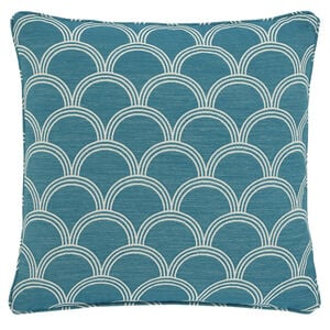 Geo Jacquard Teal 45x45 Cushion