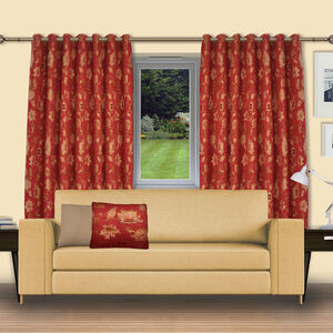 Chenille Floral Curtains
