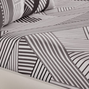 Lyons Grey Fitted Sheet