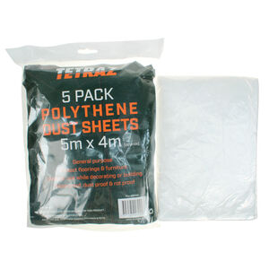 Polythene Dust Sheets 5m x 4m 5 Pack