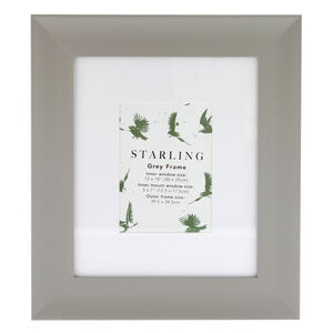 5x7 Mount Starling Grey Frame