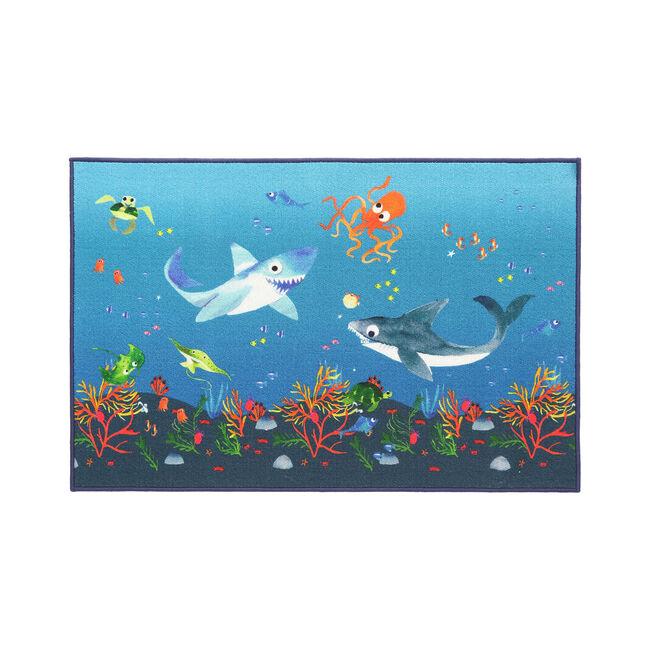 Shark Splash Childrens Floor Mat 80 x 120cm