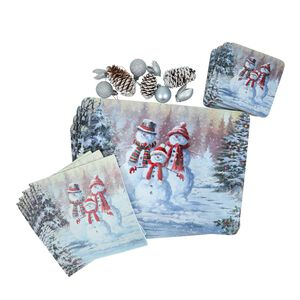 Snow Family Mats & Coasters - 4 Pack
