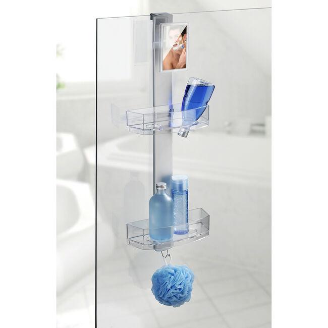 Wenko Shower Caddy Premium with Anti-Fog Mirror