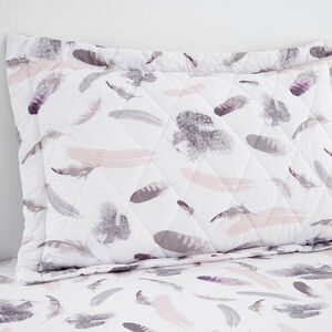 Denise Blush/Grey Pillowshams 50cm x 75cm