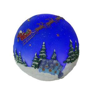 Santa over the North Pole Light up Globe