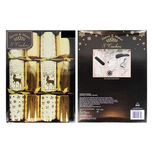 Harvey & Mason 8 Luxury Cream & Gold Crackers