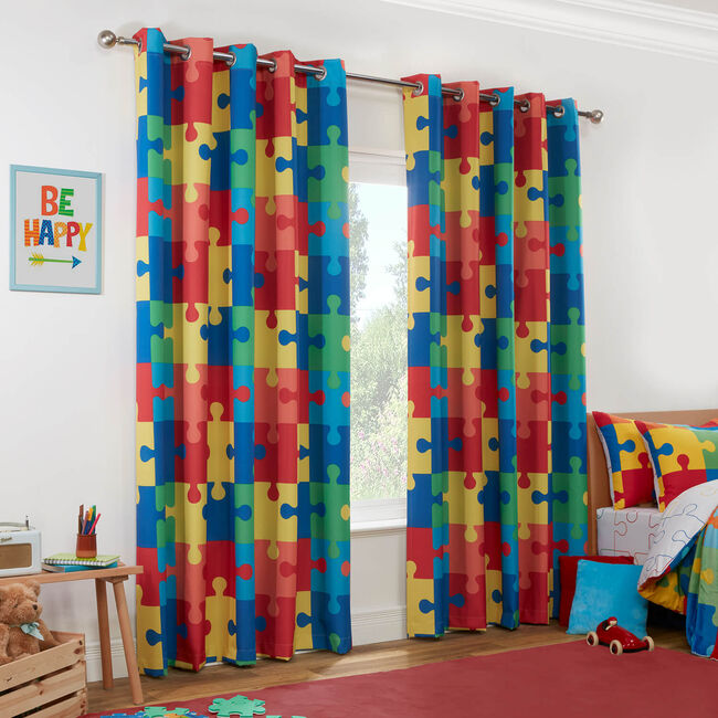 JIGSAW MULTI 66x54 Curtain
