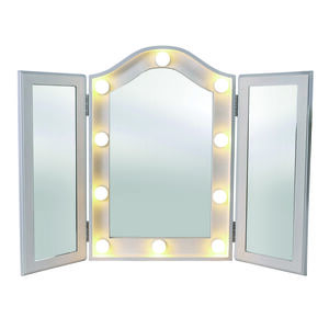 Princess LED Vanity Trifold Mirror