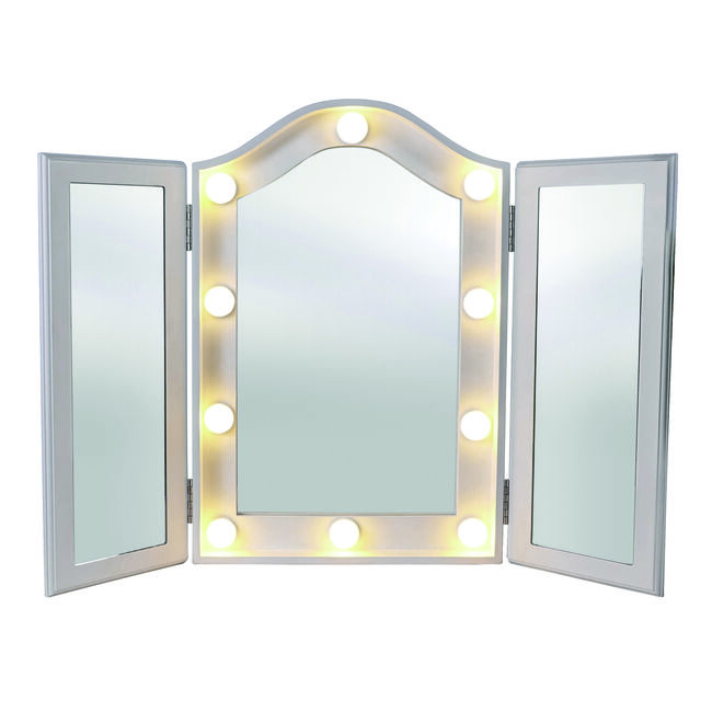 Princess LED Vanity Trifold Mirror