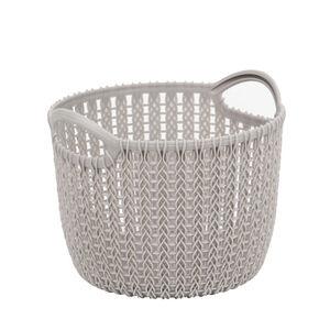 Knit Charcoal 3L Round Storage Basket